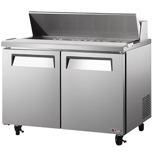Turbo Air E-line Sandwich/Salad Unit, 3 Section, 18 Pans, 72