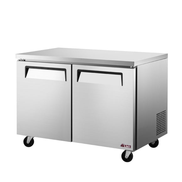 Turbo Air E-line Undercounter Freezer, 2 Section, 2 Door, 48