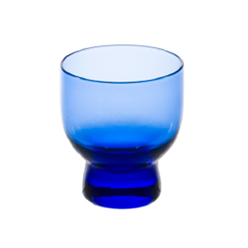 Glass Sake Cup with Blue Streak 2.25