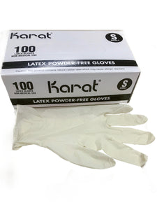 Karat Disposable Latex Powder-Free 100 Pcs Gloves Small