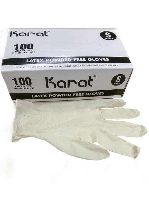 Karat Disposable Latex Powder-Free 100 Pcs Gloves Medium