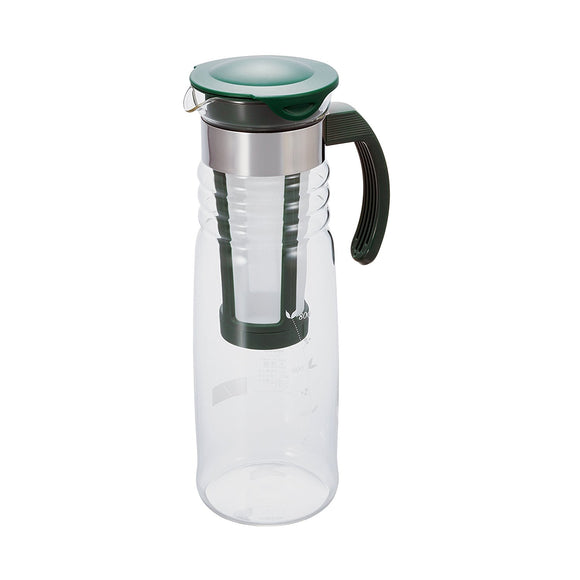 HARIO Cold Brew Glass Teapot 1200ml, Dark Green