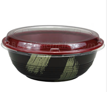 Teriyaki To-Go Bowl L 50pc, Black/Red