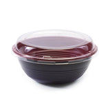 Teriyaki To-Go Bowl M 50pc, Black/Red