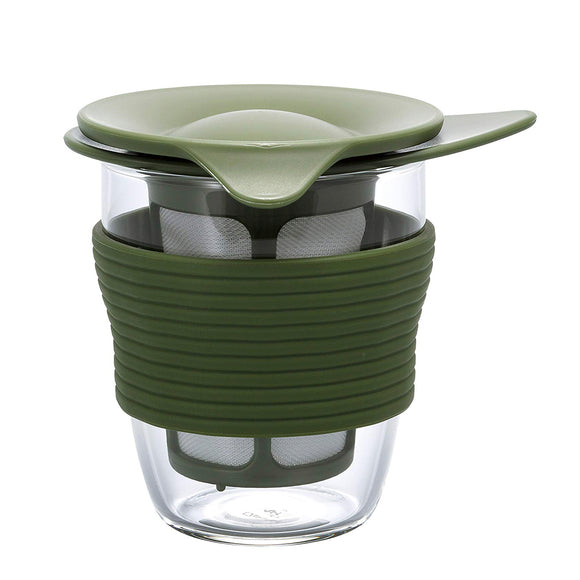 HARIO Handy Tea Maker 200ml, Olive Green