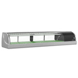 "Hoshizaki Refrigerated Sushi Case Display, Right Side Condenser, Half Glass Door, LED Light, 59""W"