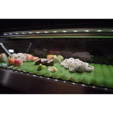 "Hoshizaki Refrigerated Sushi Case Display, Right Side Condenser, Half Glass Door, LED Light, 82.7""W"