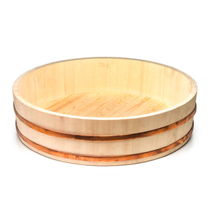 "Wooden Sushi Rice Container (23.5""D x 6-1/2""H)"