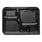 "Disposable Lunch Box w/ Lid (50pc) 10.5""x8.25"", Black"