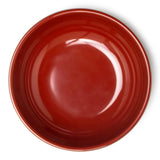 "Melamine Round Side Dish Bowl 4-3/4"", Black/Red"