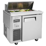 "Turbo Air J Series Sandwich/Salad Unit, 1 Section, 8 Pans, 35""W"