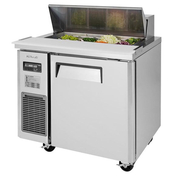 Turbo Air J Series Sandwich/Salad Unit, 1 Section, 8 Pans, 35