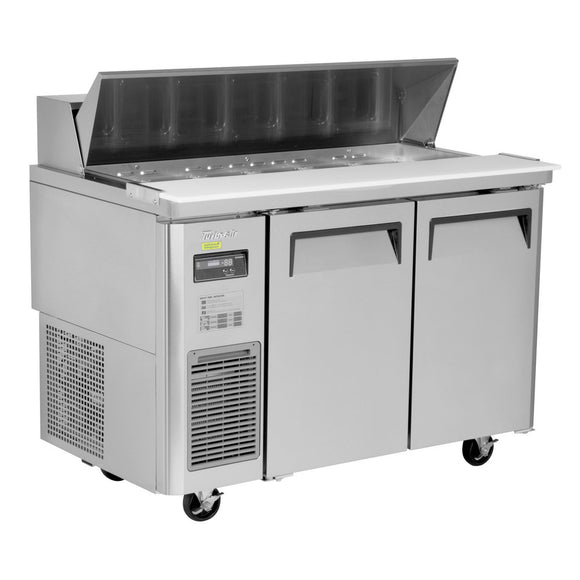 Turbo Air J Series Sandwich/Salad Unit, 2 Section, 12 Pans, 47