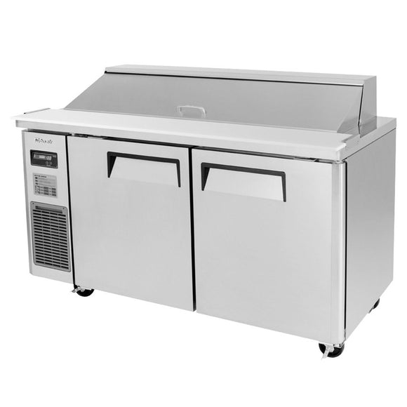 Turbo Air J Series Sandwich/Salad Unit, 2 Section, 14 Pans, 59