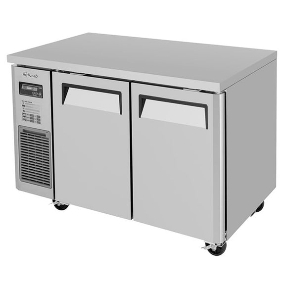Turbo Air J Series Undercounter Refrigerator, 2 Section, 2 Door, 47