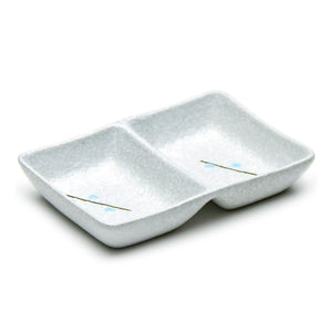 "5.25""X3.5"" 2-Compartment Divided Dish, White"