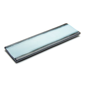 "15""X5"" Rectangular Porcelain Platter, Reactive Glaze - Blue/Black"