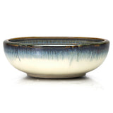 "Round Shallow Bowl 9.25"", Blue/Grey"