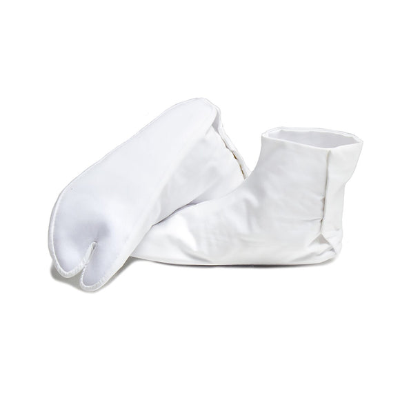 White Tabi Japanese Socks w/ 4-Closure (Size 5.5)