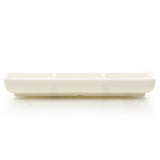 "Melamine 3-Compartment Plate 7.5""x3.25"""
