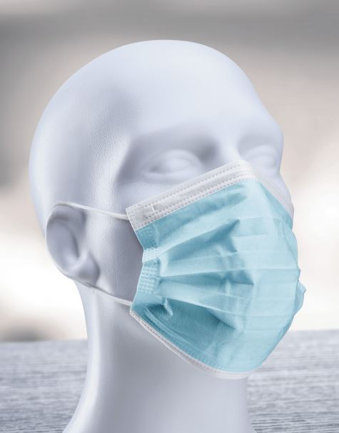 Disposable 3 Layer Ear Loop Protective Face Mask (50 pcs)