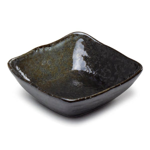 "Square Shallow Bowl 4"", Black"