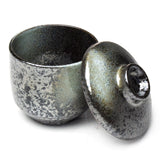 "Chawan Mushi Bowl w/Lid 3.25"", Black"