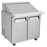 "Turbo Air M3 Sandwich/Salad Unit, 2 Section, 15 Pans, 36""W"