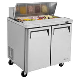 "Turbo Air M3 Sandwich/Salad Unit, 2 Section, 10 Pans, 36""W"