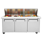 "Turbo Air M3 Sandwich/Salad Unit, 2 Section, 30 Pans, 72""W"