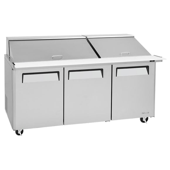 Turbo Air M3 Sandwich/Salad Unit, 2 Section, 30 Pans, 72