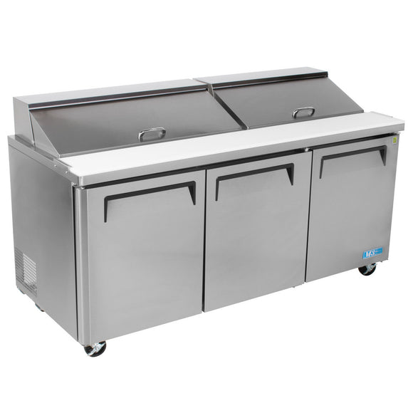 Turbo Air M3 Sandwich/Salad Unit, 2 Section, 18 Pans, 72