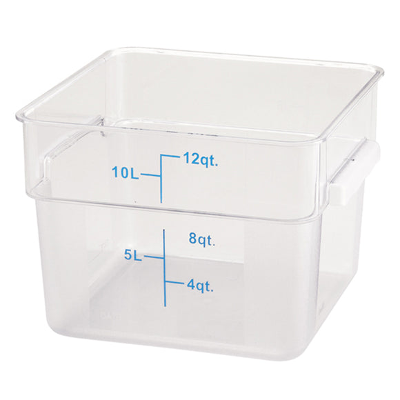 12Qt Square Food Storage Container w/ Measurements