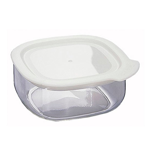 HARIO Square Pitatto Glass Container 500ml