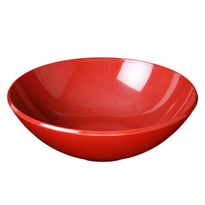 "11"" Melamine Round Bowl 3-1/2""H 96oz, Passion Red"