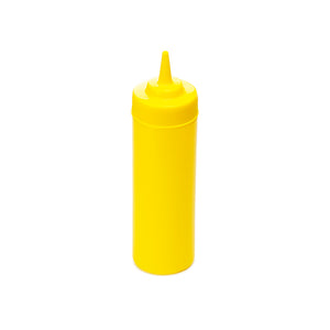 12oz Squeeze Bottle Wide Mouth, Yellow