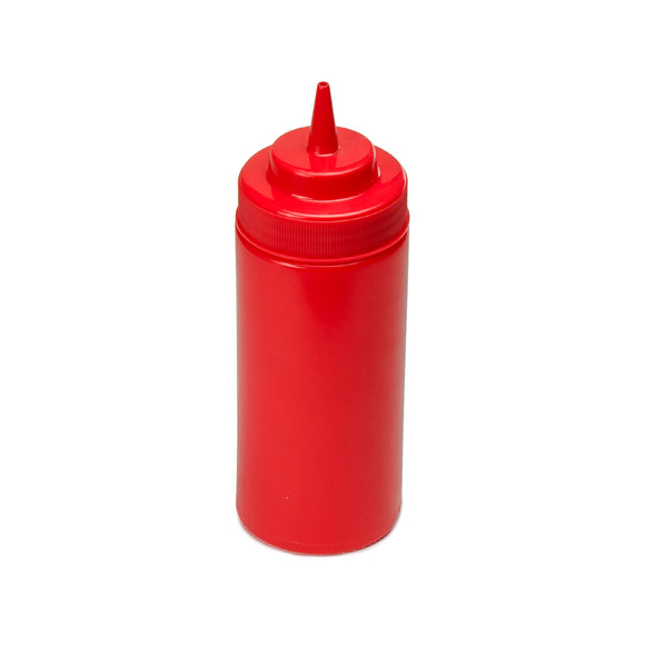 16oz Squeeze Bottle Wide Mouth, Red