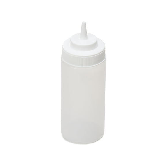 16oz Squeeze Bottle Wide Mouth, White