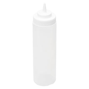 24oz Squeeze Bottle Wide Mouth, White