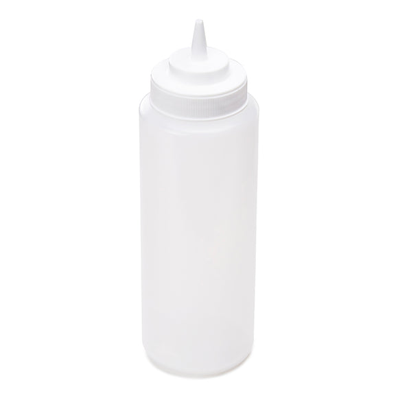 32oz Squeeze Bottle,Wide Mouth, White