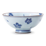 "Porcelain Rice Bowl 4.5"", Blue Flower"