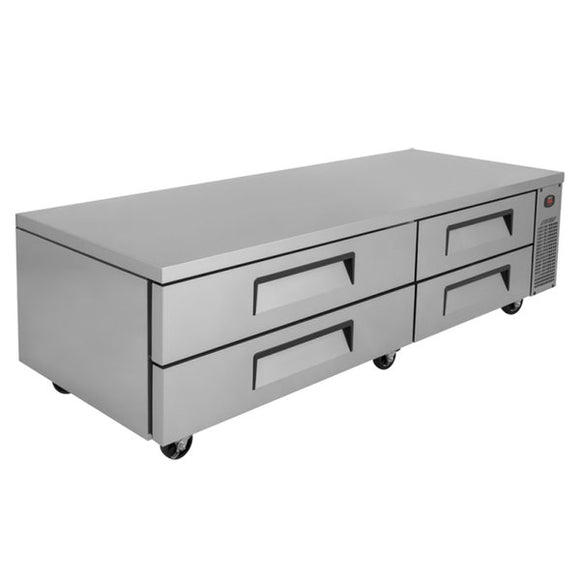 Turbo Air Super Deluxe Chef Base, Extended Top, 2 section, 4 Drawers, 89