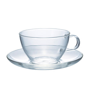 HARIO Glass Tea Cup & Saucer 230ml