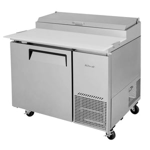 "Turbo Air Super Deluxe Pizza Prep Table, 1 Door, 1 Section, 44""W"