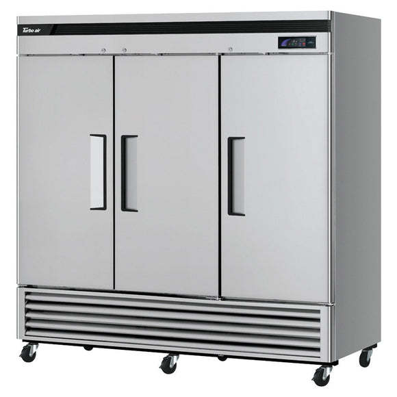 Turbo Air Super Deluxe Reach-in Freezer, Solid Door, 3 Section, 81