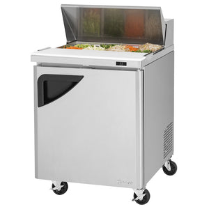 "Turbo Air Super Deluxe Sandwich/Salad Unit, 1 Section, 8 Pans, 27""W"