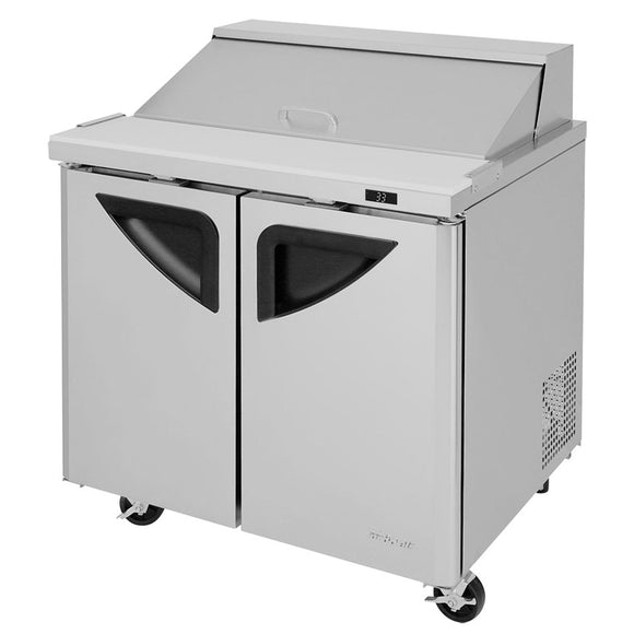 Turbo Air Super Deluxe Sandwich/Salad Unit, 2 Section, 10 Pans, 36