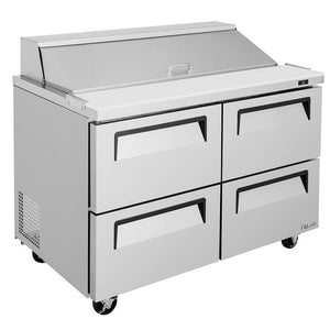 "Turbo Air Super Deluxe Sandwich/Salad Unit, 2 Section, 12 Pans, 48""W"