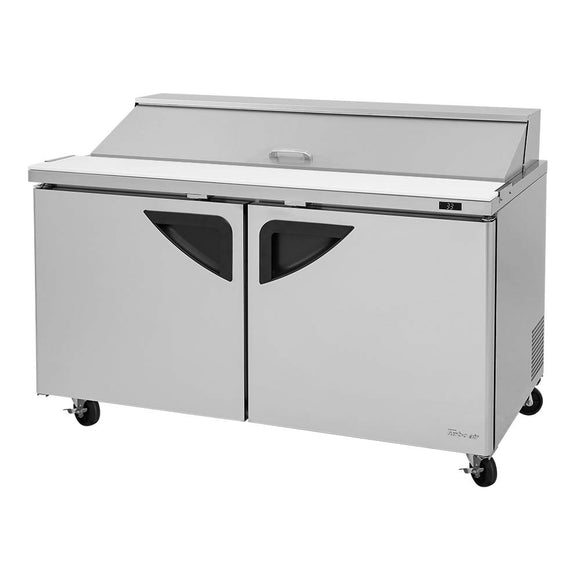 Turbo Air Super Deluxe Sandwich/Salad Unit, 2 Section, 16 Pans, 60