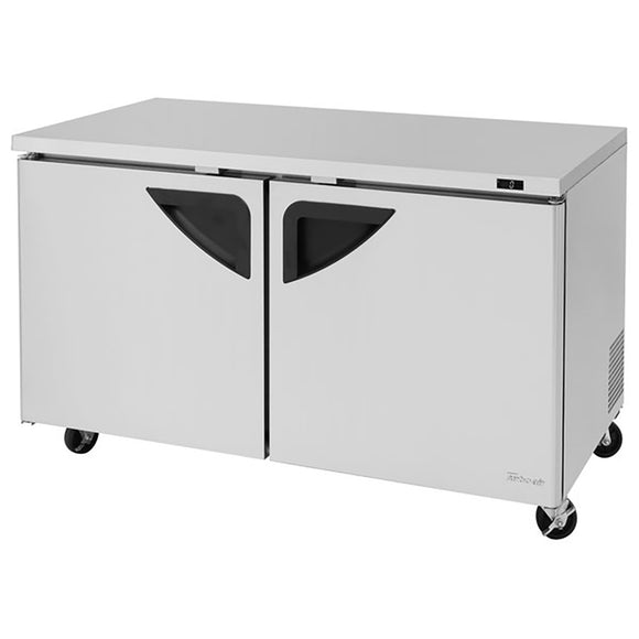 Turbo Air Super Deluxe Undercounter Freezer, 2 Section, 2 Door, 60